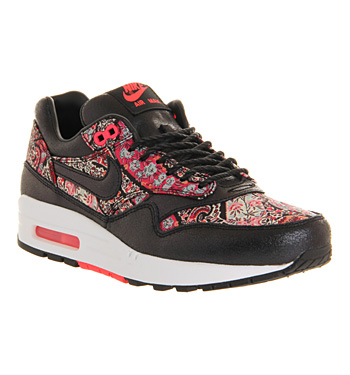 Nike air max 1 (l) black solar red liberty qs