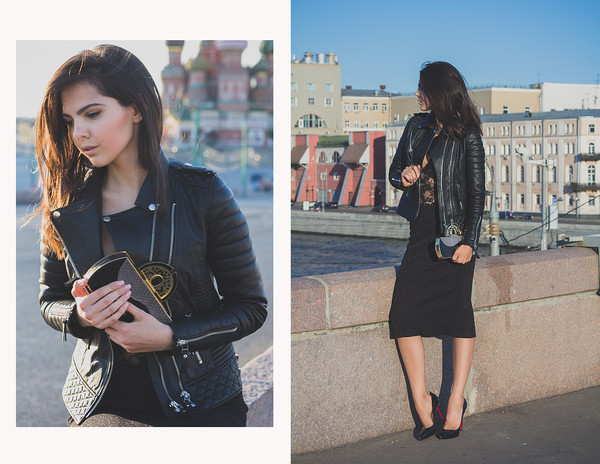 the golden diamonds bag jacket skirt shoes
