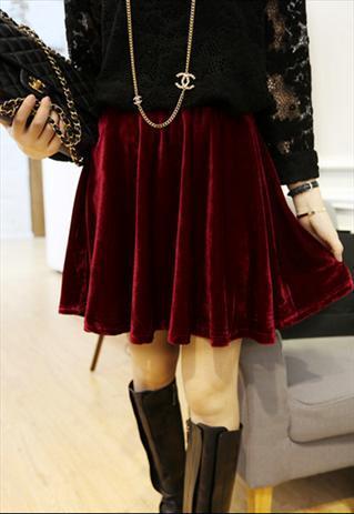 Womens Velvet Skirt 72