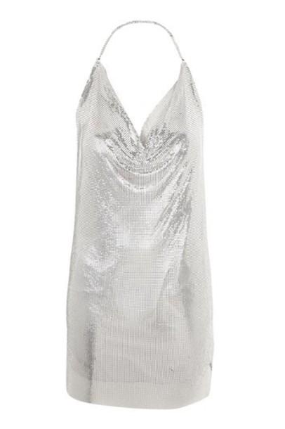 Topshop dress shift dress silver