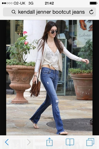 jeans boot cut jeans kendall jenner flare jeans