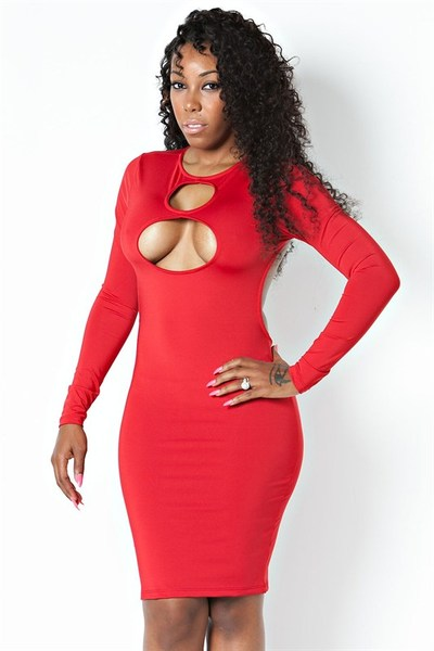 Peep the holes red dress · trendyish · online store powered by storenvy