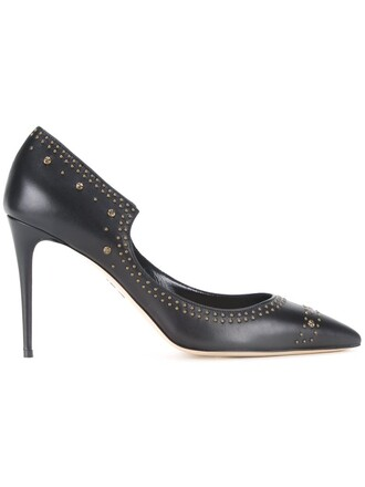 studs pumps black shoes