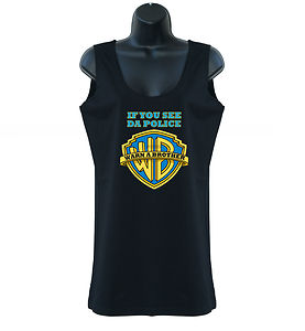 If you see da police warn a brother hip hop lady tank top vest s xxl