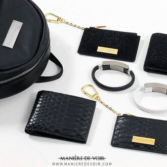 bag backpack wallet coin pouch pouch keyring tech band maniere de voir snake python embossed leather gold silver