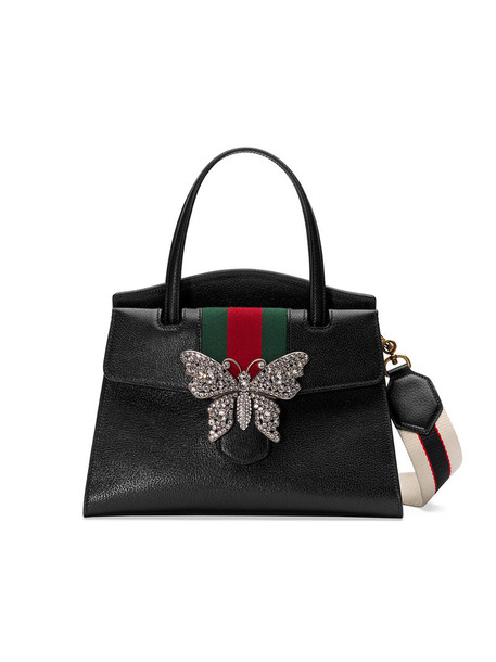 gucci women bag leather black