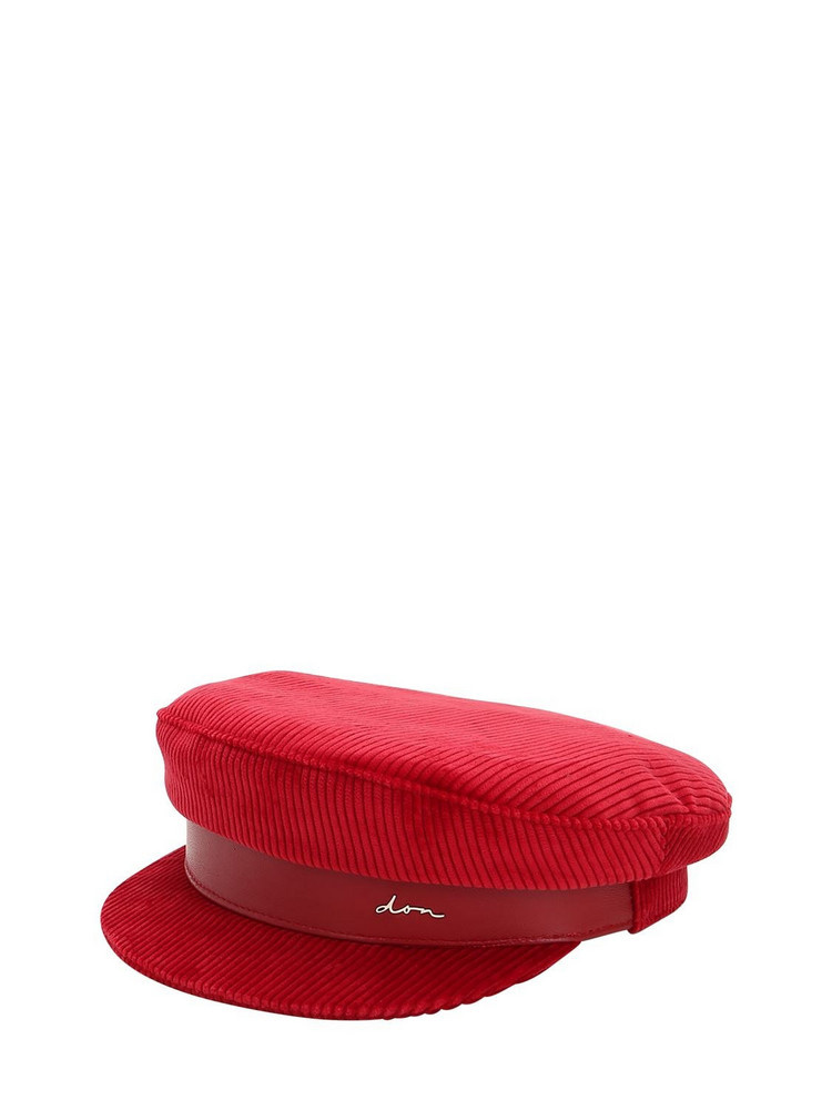 DON Corduroy Captain's Hat in red