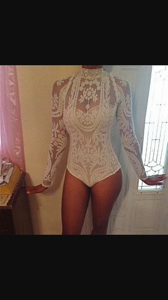 top embroidered bodysuit one piece