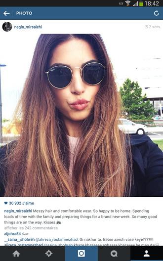 sunglasses neginmirsalehi rayban blogger