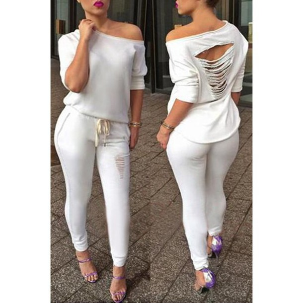 All White Everything White Jumpsuit - Shop for All White ...