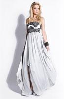 2014 Prom Dresses - Black Beaded Illusion Sweetheart Dress