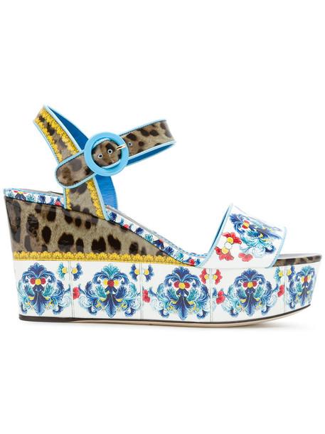 Dolce & Gabbana women sandals platform sandals leather cotton shoes