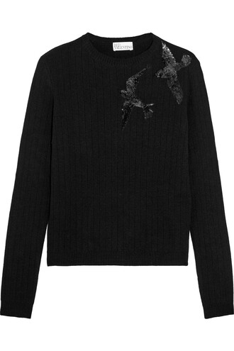 sweater knitted sweater black
