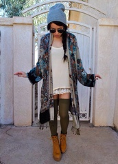 shoes,jacket,boots,lifts,beanie,hipster,sweater,aztec,dress,cardigan,floral kimono,kimono