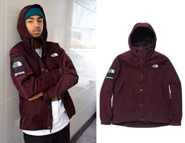 the best attitude 5120a 29416 coat supreme north face burgundy wavy the north face jacket north face  menswear mens jacket mens