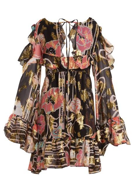 dress mini dress mini silk black pink