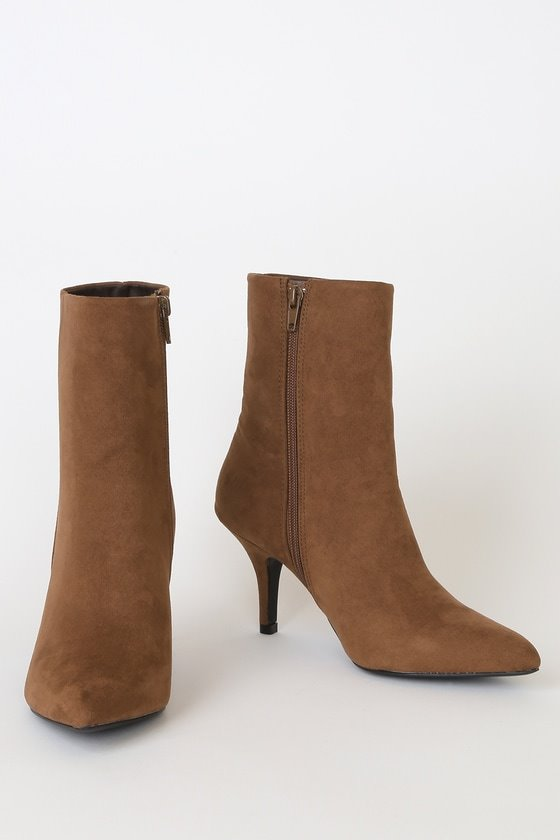 East Village Brown Suede Mid-Calf Boots