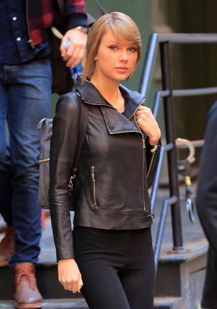 jacket taylor swift leather