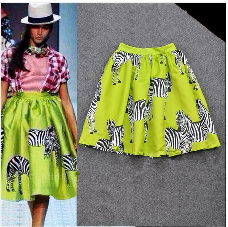 Aliexpress.com : buy free shipping new spring summer 2014 saias skirts fashion brand animal zebra print high waist ball gown skirt  women girl 048968 from reliable gown picture suppliers on chic