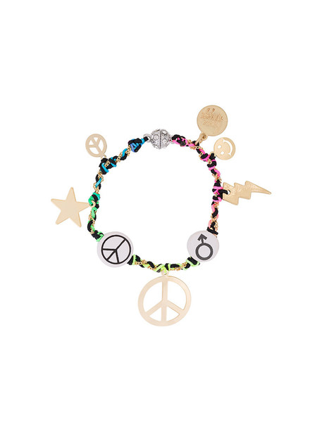 women peace charm bracelet jewels