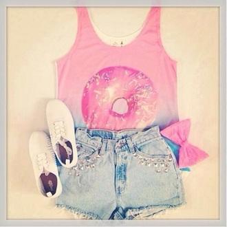shirt donut earphones hair accessory