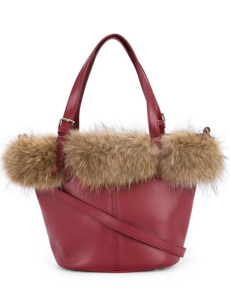 Loveless women leather red bag