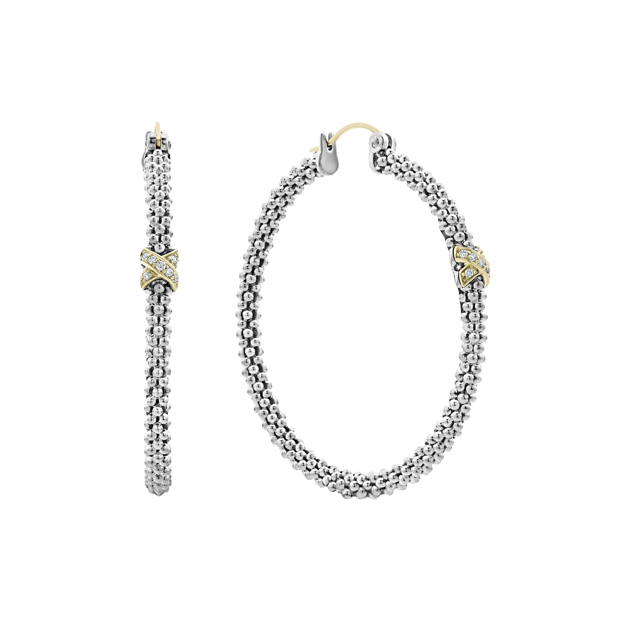 Diamond Hoop Earrings | Caviar Lux | LAGOS Jewelry