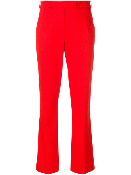 high women spandex cotton red pants