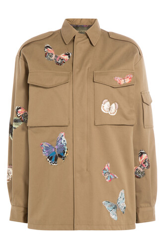 jacket butterfly cotton green