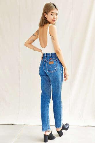jeans wrangler vintage jeans high waisted jeans denim
