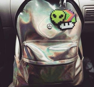 bag grunge silber schimmer metallic metallic bag cool cool bags