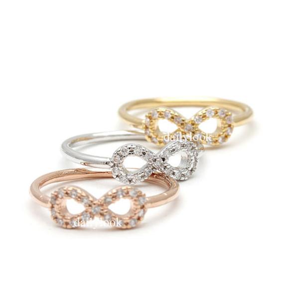 jewels jewelry ring infinity midi ring infinity knuckle ring knuckle ring knuckle ring infinity ring infinite ring eternity ring
