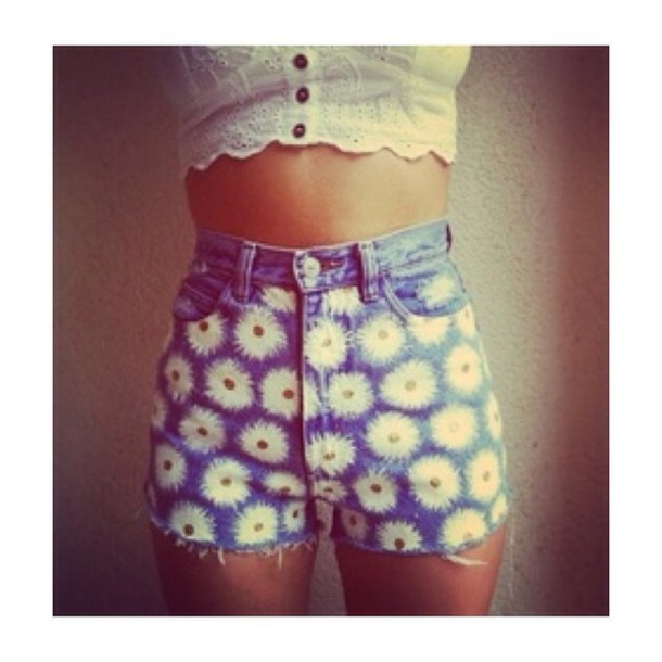 shorts daisy jeans denim cute