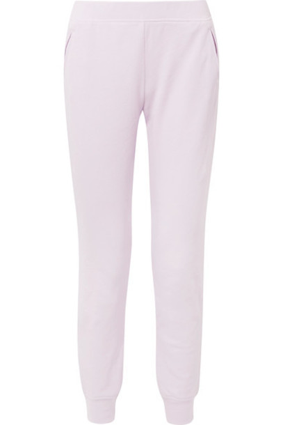 ATM Anthony Thomas Melillo pants track pants cotton lavender