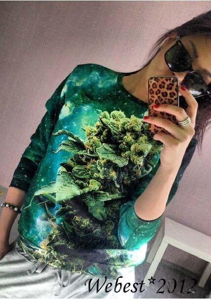 New womens/mens coral print weed galaxy print 3d sweatshirts sweaters hoodies