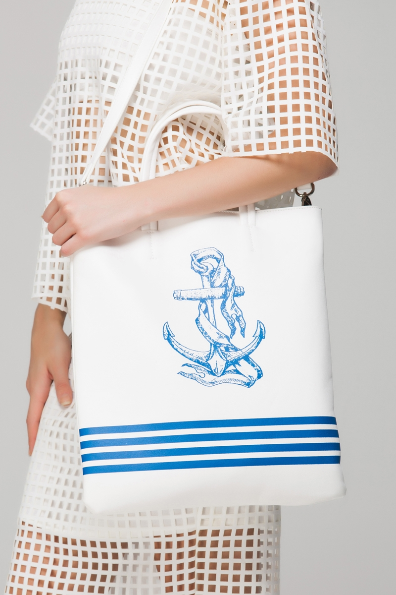Nautical shopper bag