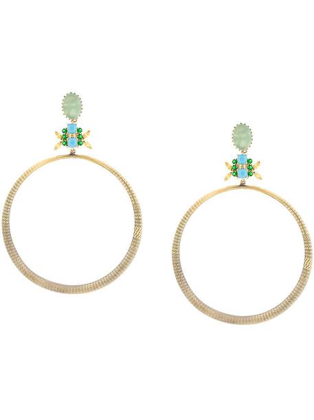 IOSSELLIANI women earrings hoop earrings gold grey metallic jewels