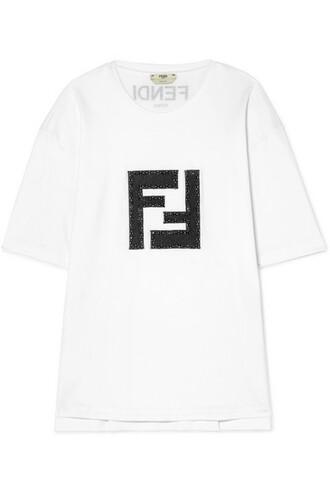 t-shirt shirt embellished white cotton top