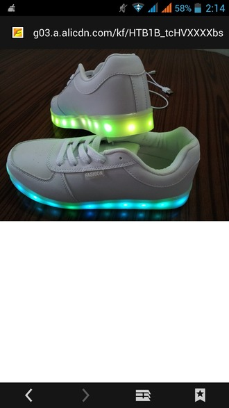 shoes glow in the dark colorful