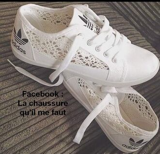shoes adidas blanc tissue white sports shoes crochet sneakers lace cute shorts hollow out ladies adidas shoes white shoes spring spring shoes summer summer shoes adidas blanc avec dentelle black white sneakers low top sneakers lace shoes lace adidas white lace sneakers