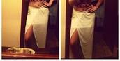 skirt,side slit maxi skirt