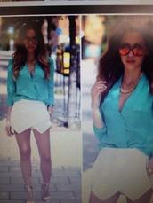 skirt,white skort,sunglasses