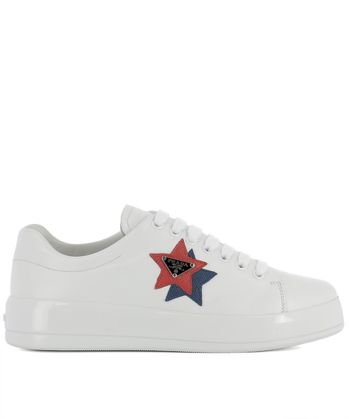 Prada sneakers leather white shoes
