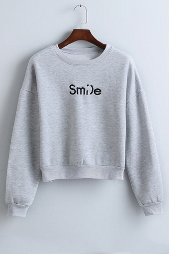 sweater grey fashion style trendy cool casual long sleeves quote on it beautifulhalo