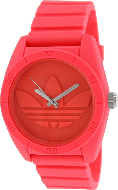 229d4314926cb Amazon.com: Adidas Men's Santiago ADH2936 Pink Silicone Quartz Watch with  Pink Dial: Adidas: Watches