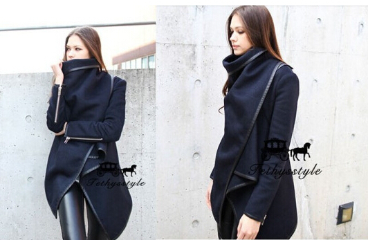 Abrigos Mujer Real Regular Covered Button Broadcloth O neck Full Button Hot Free Shipping 2014 Winter Overcoat Women Trench Coat-in Trench from Apparel & Accessories on Aliexpress.com | Alibaba Group