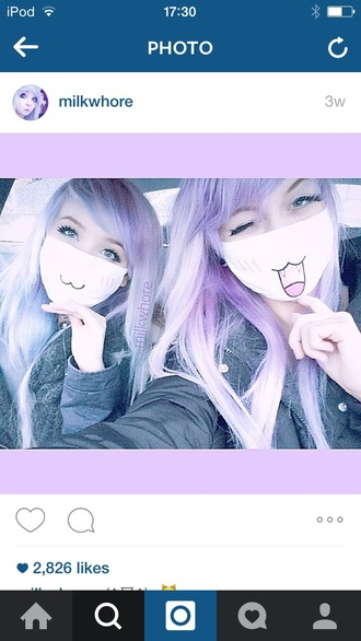 scarf mask anime chibi cute fangs neko