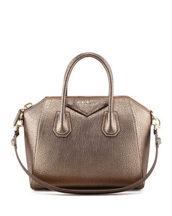 Givenchy Antigona Small Metallic Leather Satchel Bag, Gold - Bergdorf Goodman