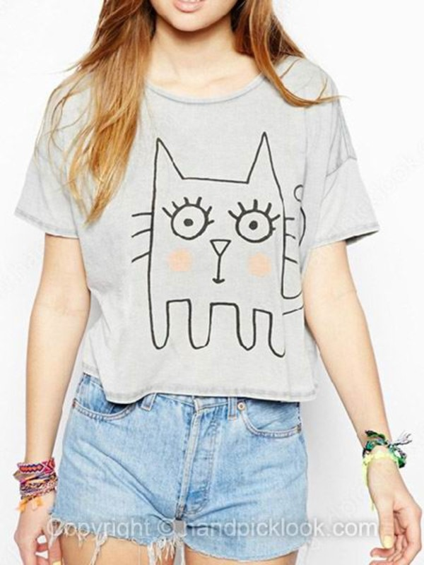 top clothes beautiful cat print shirt cats