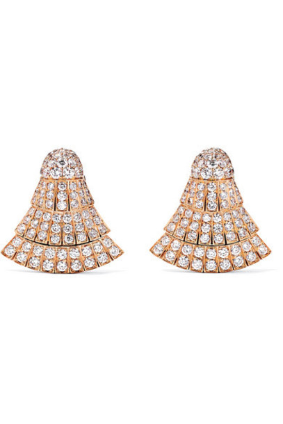 de GRISOGONO - Ventaglio 18-karat Rose Gold Diamond Earrings